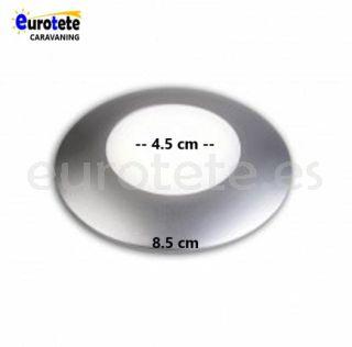 Plafon 8 cm led silver neutro autocaravana 1