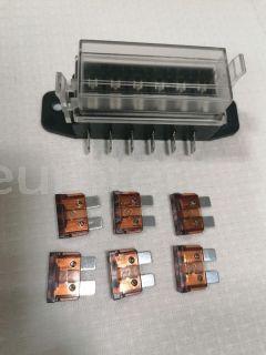 Portafusibles con 6 fusibles 7.5 amperios