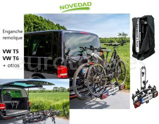 Portabicicletas-Eufab-Premium-2-plus-volkswagen-T5-T6-enganche- remolque-carga-60-kg-para-bicicleta-electrica-deporte-vacaciones-mountain-bike-1
