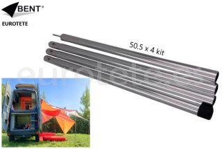 Poste vertical Bent Kit 4 barras para lona toldo camping