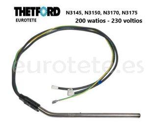 Thetford resistencia 200 watios / 230 voltios N3145, N3150, N3170, N3175