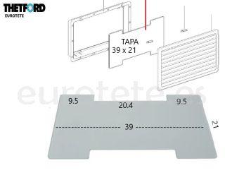 Tapa-Thetford-N3141-N3142-invierno-257-432-frigorifico-SR-vent-cover autocaravana-nevera-recambio-1