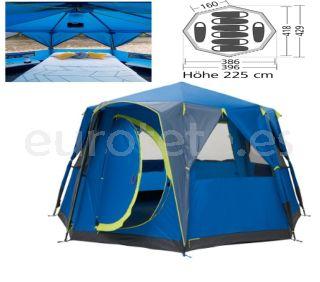 Tienda-de-campaña-familiar-azul-para-8-personas- camping-vacaciones-playa-costa-brava-decathlon-1
