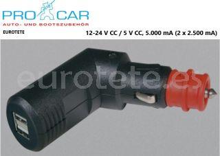 Usb-enchufe-de-carga-doble-alta-carga-conector articulado-pro-car-camper-telefon-movil-smartphones-MP3