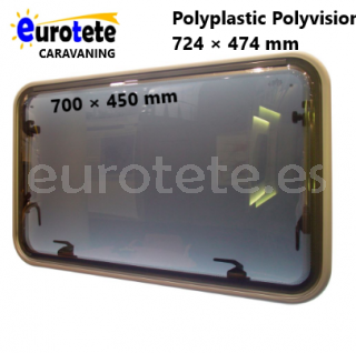 Ventana 700 x 450 Polyplastic Polyvision cristal gris caravana 1