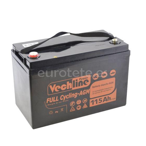 Bateria agm 115 amperios Vechline full cycling para autocaravana 1