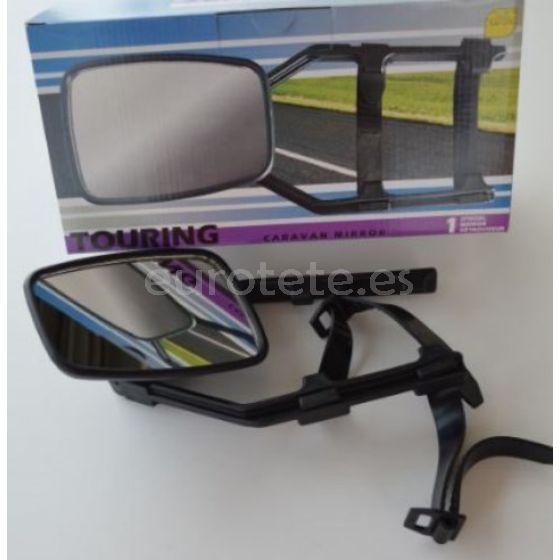 Espejo retrovisor para caravana con cinta elástica