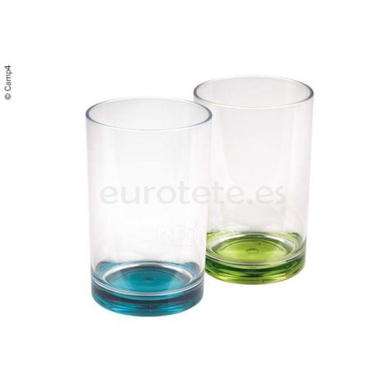 Vasos transparente con verde Tarifa caravaning 1
