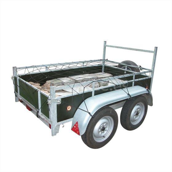 Red malla de equipaje 90 X 150 cm con ganchos. Organizador. Remolques. 1