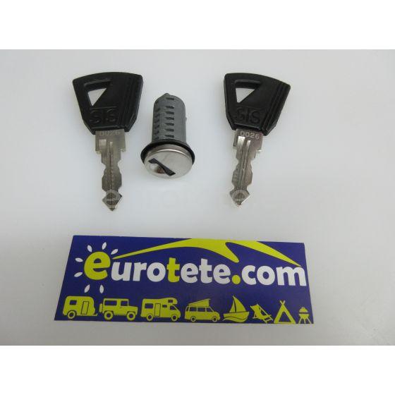 Serie Europa cilindro y 2 llaves para puerta autocaravana 1