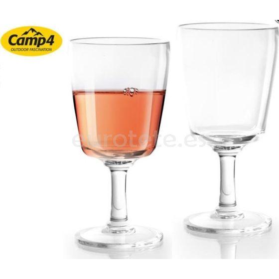 Copas de vino Capri con 2 unidades de policarbonato para caravaning 1
