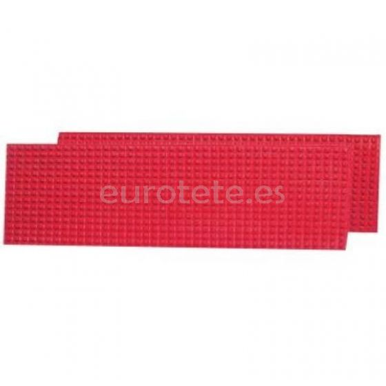 Placas antideslizantes rojas 2 unidades alta calidad para hundimiento rueda autocaravana 1