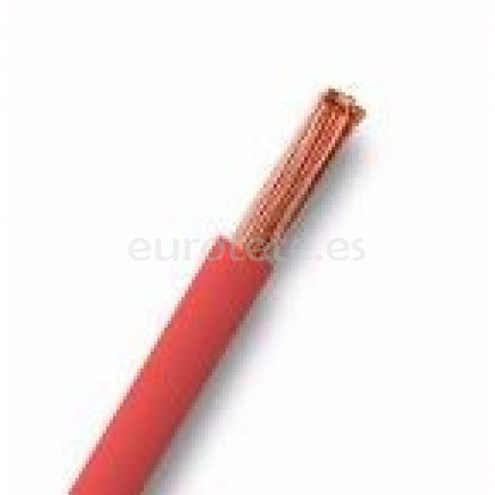 Cable 2.5 mm flexible universal rojo para instalaciones eléctricas