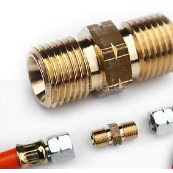 Gok 1/4 conico izquierda conector de manguera gas roscado tubo 8 mm para autocaravana o caravana 1