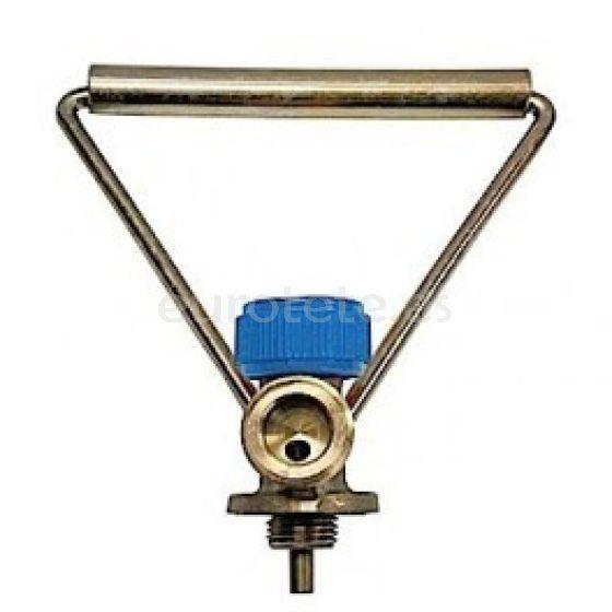 Regulador o llave botella azul con asa MB para caravaning 1