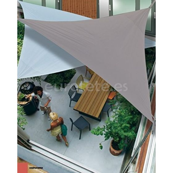 Toldo vela sombrilla parasol triangulo de poliester para camping o jardin 4