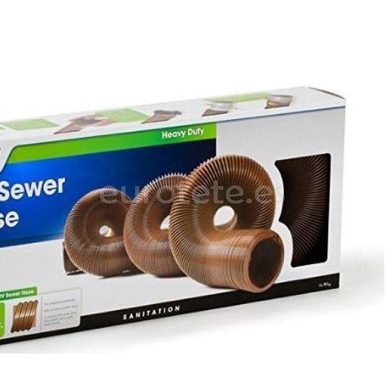Manguera flexible 3 pulgadas para desague y evacuar agua en una alcantarilla camping 2