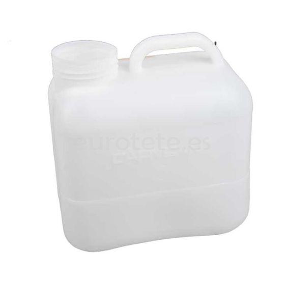 Bidon 10 litros 31 x 28 x 17 sin tapon para agua limpia
