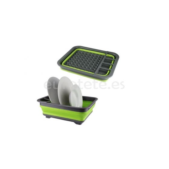 Escurreplatos plegable silicona para cocina autocaravana o camping 2
