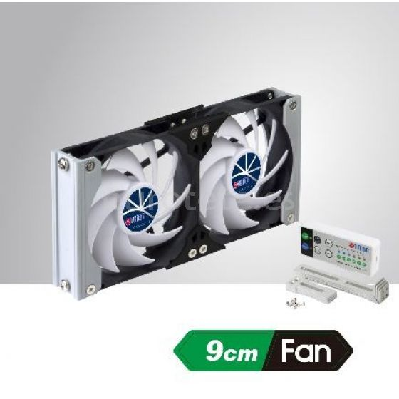 Ventilador nevera 20 x 9 Titan manual y automatico a 12 voltios 3