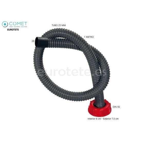 Tapon agua Din 93 con tubo flexible 1 metro para bidon deposito agua
